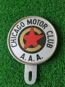 Chicago Motor Club A A A License Plate Topper Reflexite Corp Vintage
