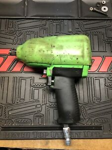 Snap On Tools Super Duty Impact Air Wrench Mg725 1 2 Drive Green
