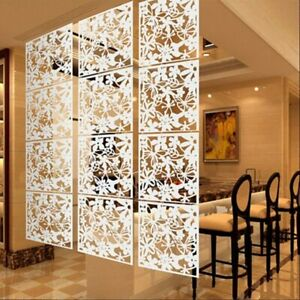 12pcs White Hanging Screen Living Room Divider Partition Wall Panel Home Decor