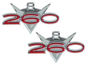 New 1962 64 Falcon 260 Emblems Front Fender Set Badges Lh Rh 62 63 Fairlane Ford