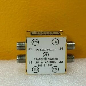 Wiltron 360 b 19821 0 4 To 40 Ghz 2 92mm f Transfer Standard Tested