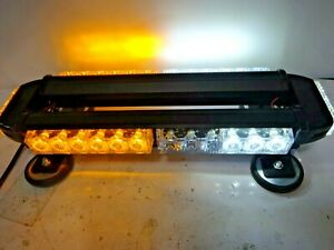 Read Ad 14 5 Led Emergency Light Bar Flash Warning Roof Amber White Top