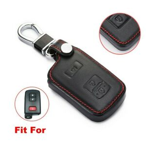 Leather Car Remote Key Cover Case Fob For Toyota 4runner Camry Corolla 3 Button