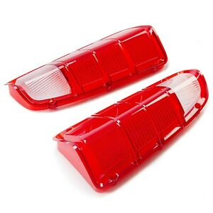 Rear Red Tail Light Lens Only Pair For 72 80 Dodge Truck Plymouth Power Wagon