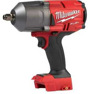 Milwaukee 2767 20 M18 Fuel High Torque 1 2 Impact W fric Ring tool Only New