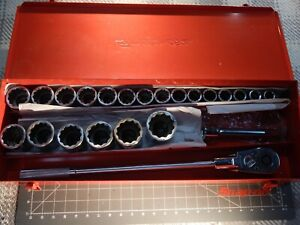 Snap On Tools 23pc 3 4 Drive Service Set Shallow Socket 3 4 2 Dr Box Nice