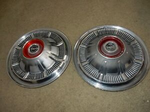 Two Vintage 66 67 68 Galaxie Ford 66 79 F100 Pickup Truck Bronco Hubcaps