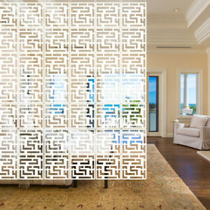 12x White Hanging Screen Room Divider Panels Partition Wall Diy Home Decor 11