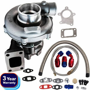 T3 T4 T04e A R 63 Stage Iii Boost Anti Surge Turbo Charger Oil Feed Line Kit