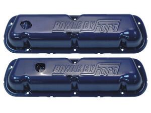 New 1968 72 Ford Valve Covers 302 351w Blue Power By Ford Mustang Torino Galaxie
