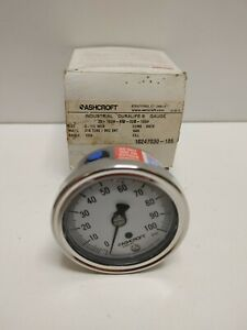 New Old Stock Ashcroft 2 5 0 100 1 4 Rear Pressure Gauge 25 1009 aw 02b 100