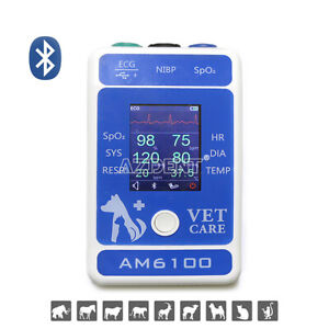 Vet Bluetooth Multi parameter Veterinary Palm Patient Monitor Body Healthy Test