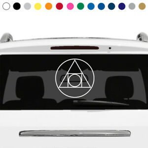 Prima Materia Decal Sticker Magnum Opus Alchemy Symbol Rear Window Car Truck