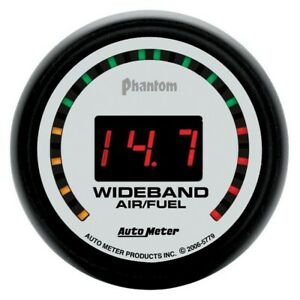Auto Meter Phantom 52mm Digital 10 1 17 1 Street Wideband Air fuel Ration Gauge