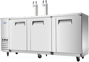 Commercial Beer Keg Cooler Kegerators atosa Mkc90 90 Large Commercial Stainless