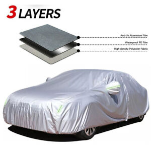 Car Cover Waterproof Sun Uv Snow Dust Resistant Protection For Honda Civic Sedan