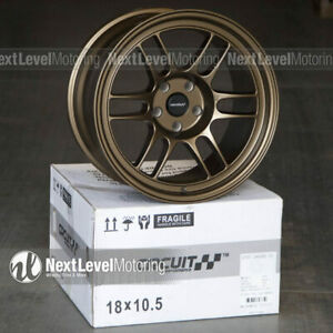 Circuit Cp37 18x9 5 18x10 5 5 114 3 25 Bronze Wheels Staggered Fit 350z G35