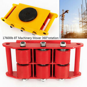Heavy Duty Machine Dolly Skate Machinery Roller Mover Trolley 360 Cap 6t 8t 12t