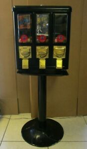 Amerivend Gumball Candy Vending Machine Genuine Vintage Made From Metal