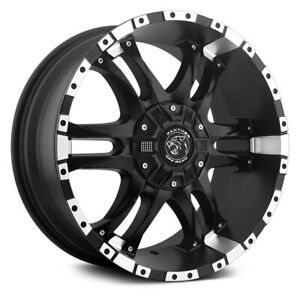 Panther Offroad 810 Wizard Wheels 17x9 0 6x139 7 106 1 Black Rims Set Of 4