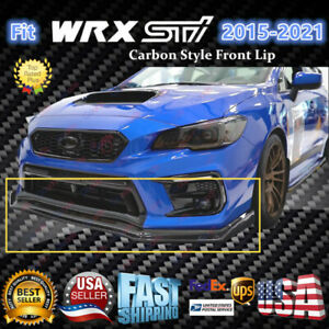 Carbon Fiber Front Bumper Body Lip Splitter Spoiler For 2015 2021 Subaru Wrx Sti