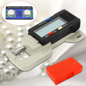0 12 7mm Digital Thickness Gauge Fabric Jewelry Paper Measure Thickness Meter Us