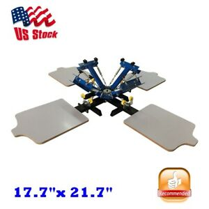 4 Color 4 Station Silk Screen Printing Press Equipment Machine T shirt Printer