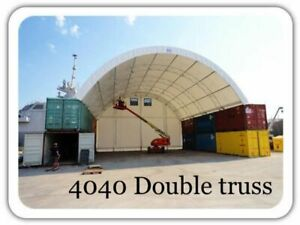 Shelter Fabric Dome Container Dual Truss Commercial Grade Pvc 40 X 40 X 15