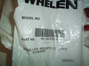 Whelen Red Lens Part Number 68 1963583 50a