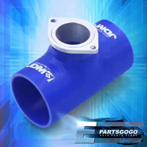 Universal Turbo Blow Off Valve Rs S Type Flange Silicone Adapter Piping 3 Blue