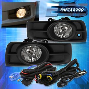 For 10 14 Chevy Cruze Clear Driving Fog Lights Lamps Switch Set Left Right Clear