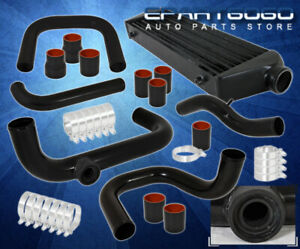 For 96 00 Civic Ek Black Fmic Intercooler Bolt On Piping Kit Couplers T Clamps