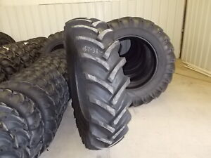 Two New 18 4 38 14 Ply R1 Tractor Tires