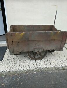 Industrial Wooden Work Cart Wicked Cool