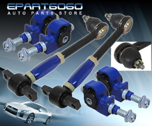 For 90 97 Accord Cb Cd Blue Front Rear Camber Kit Adjustable Suspension Jdm Link