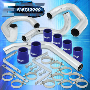 For 99 05 Vw Mk4 Golf Jetta 1 8t Intercooler Piping Kit Clamps blue Coupler Set