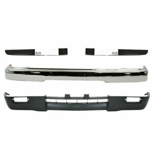 Front Bumper Chrome Steel Valance Filler For 1995 1997 Toyota Tacoma 4wd