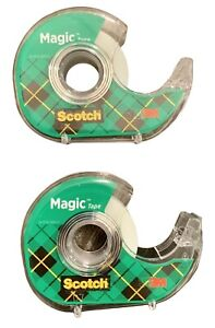 Scotch Magic Tape With Refillable Dispenser 3 4 Inches X 850 Inches 2 Rolls