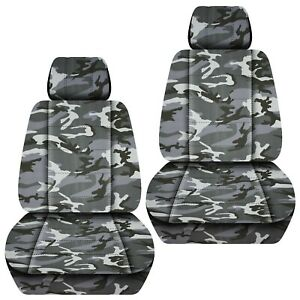 Front Set Car Seat Covers Fits Jeep Cherokee 2014 2020 Camo Gray