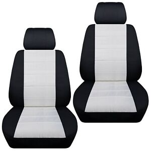 Front Set Car Seat Covers Fits 1997 2020 Toyota Camry Black White