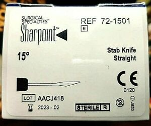 Surgical Specialties Sharpoint 15 Stab Knife 72 1501 qty 1 Bx Of 6 Feb 2023