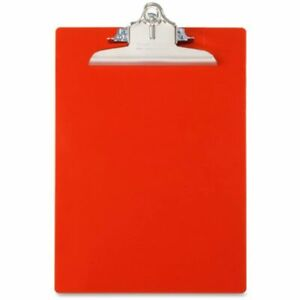 Saunders Recycled Plastic Clipboard Letter Size 8 5 X 12 Inches Red 21601