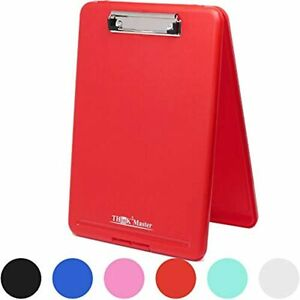 Think2master Red Plastic Storage Clipboard 25 Heavier amp Sturdier Heavy Duty