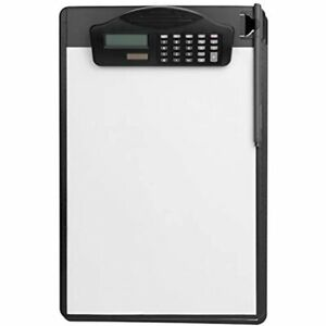 Multifunctional Clipboard With Calculator Plastic Storage Pen Writing Pad File