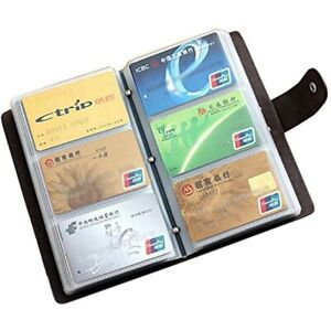Boshiho Leather Credit Card Holder Business Id Case Book Style 90 Count Name