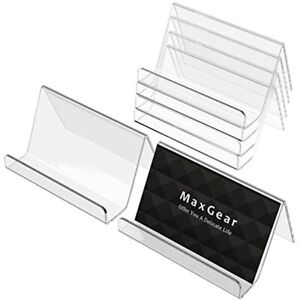 Maxgear Business Card Holder For Desk Acrylic Display Holders Clear Cards Stand