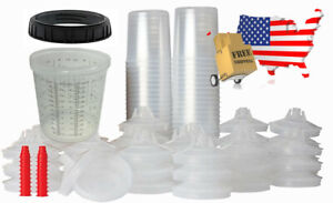 Pro Disposable Paint Cups Like 3m Pps Cups 50lids Liners 1hard Cup 20oz Mix