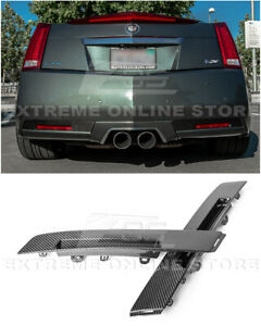 For 09 15 Cadillac Cts V Coupe Gm Factory Carbon Fiber Rear Bumper Insert Cover