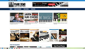 Piano Learning Guides And Tips Website 100 Automated premium Designed