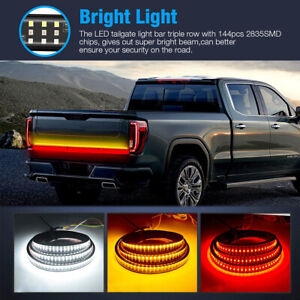 48 Inch Tailgate Led Strip Bar Truck Stop Brake Turn Signal Tail Light For Ford